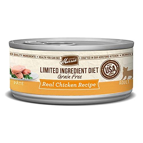 Merrick Limited Ingredient Diet Grain Free Real Chicken Recipe Pate Wet Cat Food - (24) 5 oz. Cans