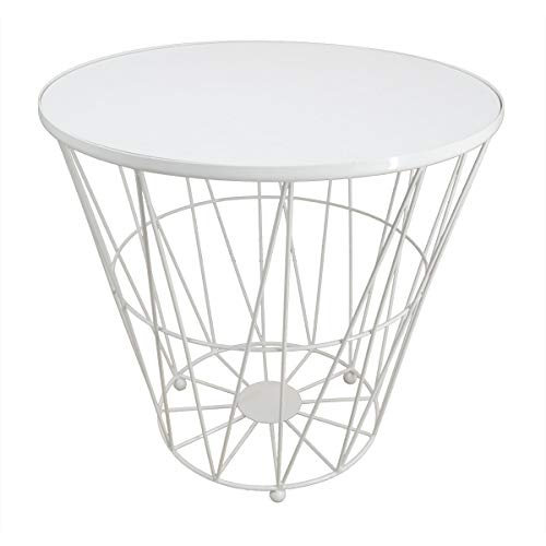 PrimoLiving Design Drahtkorb/Bestelltisch Diagonal P-840 weiß Gr. L (ca. 40x35cm)