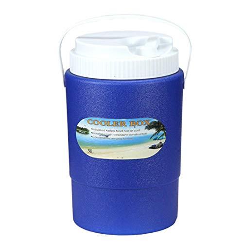 MOKY 3L Capa de Aislamiento portátil de Viaje de Coches Caja del refrigerador, Aire Libre Pequeño Barril de Aislamiento de Hielo Organizador, para Camping Picnic en la Playa,A