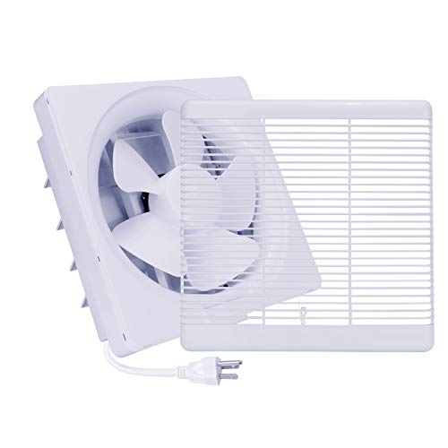 Exhaust Shutter Fan 300 CFM, 2 Direction Reversible Strong Airflow Wall Mounted Vent Fans, Ventilation Blower for Bathroom Attic Window Basement (8 inch / 110V)