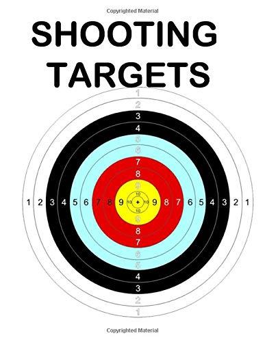 50 Shooting Targets Colored: 8.5' x 11' Shooting Range Target or Bullseye: Great...