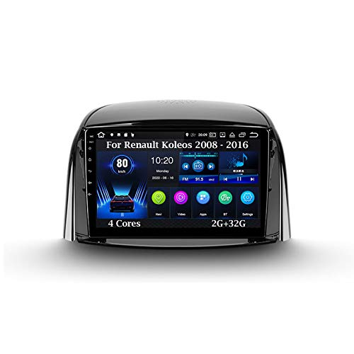 Android 10 9 Inch Pantalla Tactil para Coche Reproductor Car Stereo para Renault Koleos 2008 - 2016 4 Cores 2G+32G Radio del Coche Car Player Conecta Y Reproduce Coche Audio USB Mirror Link