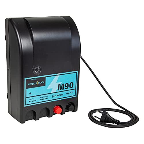 Intellishock M90 Weidezaungerät 230V, für Weidezaun, Elektrozaun, elektrischer Weidezaun, Netzgerät, elektrischer Weidezaun, ideal zum Hüten von Pferden, Rindern, Schweinen, Haustieren