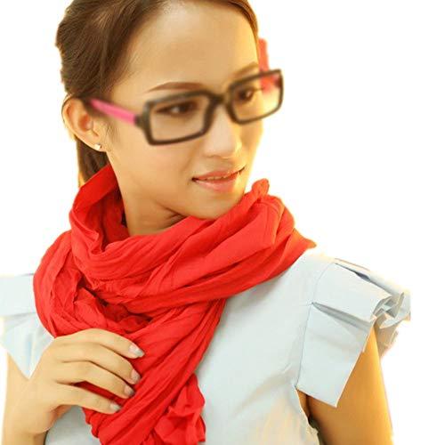 Bufanda de color sólido para mujer, larga, casual, suave, arrugada, ligera, para todas las estaciones multicolor A