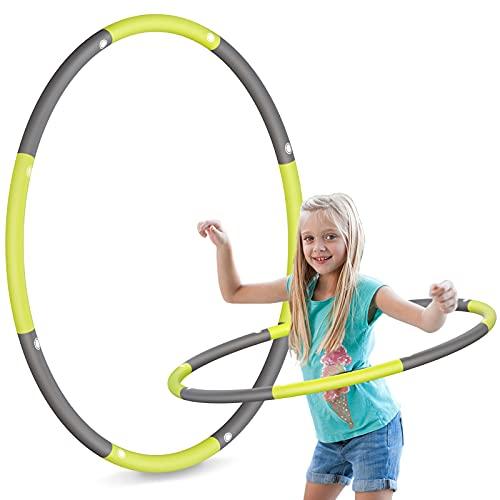 TCIOD Hoola Hoop Kinder, 8 Abschnitte Abnehmbare Hoola Hoop Reifen Kinder, Gewicht 750g, Kinder Hoola Hoop Reifen für Zuhause Draussen Schule Training Sport & Spiel