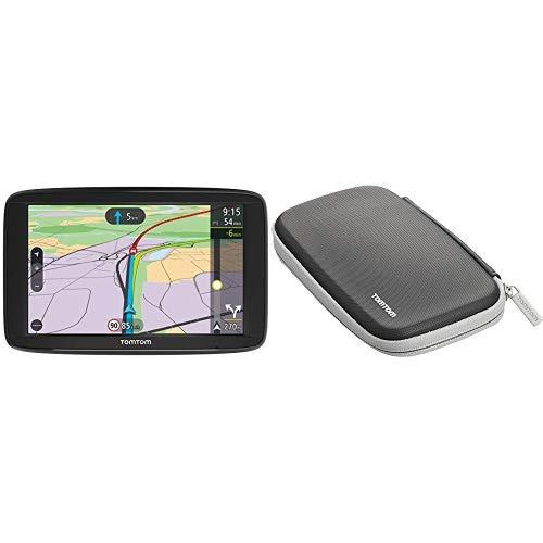 TomTom Via 62 Europe Traffic Navigationsgerät (15 cm (6 Zoll), Sprachsteuerung, Bluetooth Freisprechen, Fahrspurassistent, 3 Monate Radarkameras &  Klassische schützende Tragetasche