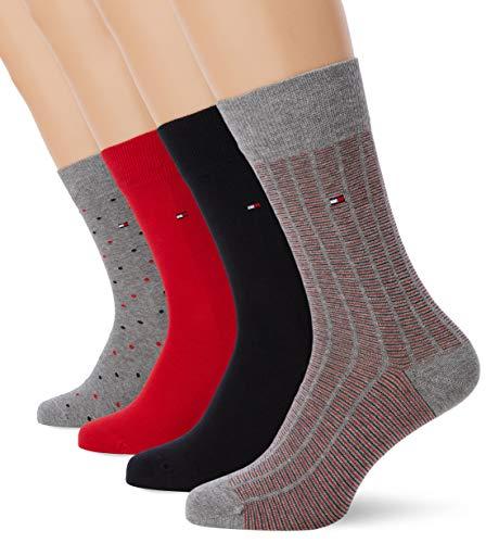 Tommy Hilfiger Herren Th Men Ss19 Giftbox 4p Socken, Mehrfarbig (Tommy Original 085), 43/46 (Herstellergröße: 043) (4er Pack)