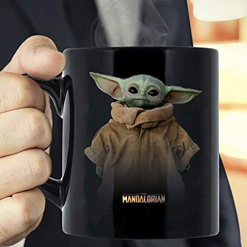 Baby Yoda Mandalorian Logo The Child Simple Portrait T-Shirt Coffee Mug -...