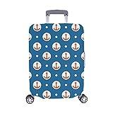 Fliese Sailor Vector Pattern Roten Anker Muster Spandex Staubschutz Trolley Protector case Reisegepäck Beschützer Koffer Cover 28,5 X 20,5 Zoll