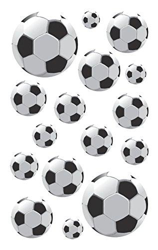 AVERY Zweckform 53708 Kinder Papier-Sticker Fußbälle 48 Aufkleber (für Jungen, Mitgebsel, Gastgeschenk, Kindergeburtstag, Schatzsuche, zum Spielen, Sammeln, Basteln, Verschenken)