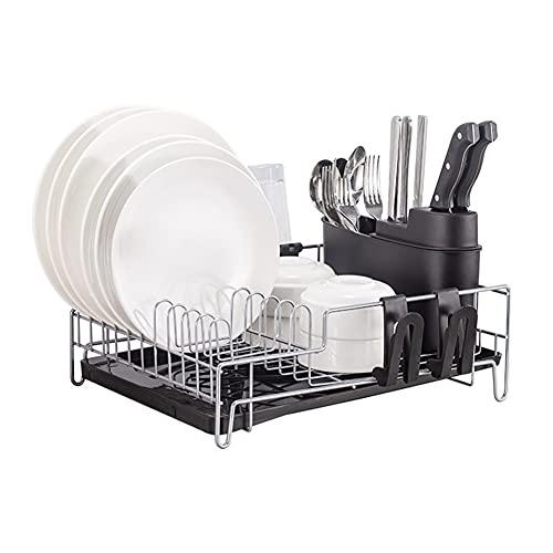 Linjolly Cocina Nano Craft Dish Rack Hogar Multifuncional Multifuncional Duración de Drenaje Estante de Cocina Rack Taza de Agua Taza Vajilla Taza