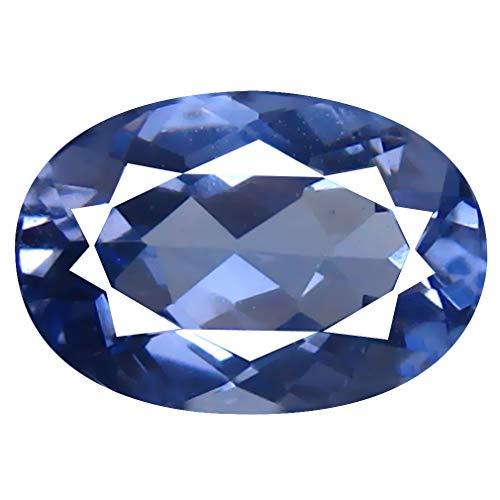 Piedra preciosa suelta suelta de berilo azul natural de 1,89 quilates (10 x 7 mm)