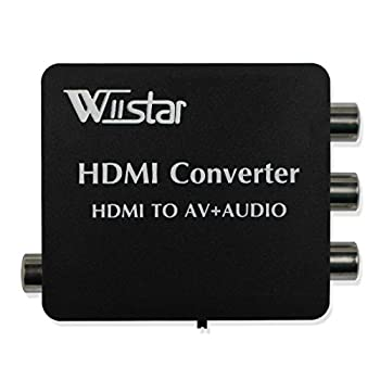 HDMI to AV 3RCA CVBS Composite Video Converter with Audio Toslink Spdif Coaxial Adapter Support PAL/NTSC with USB Cable for PC Laptop Xbox PS4 PS3 TV STB VCR Camera DVD