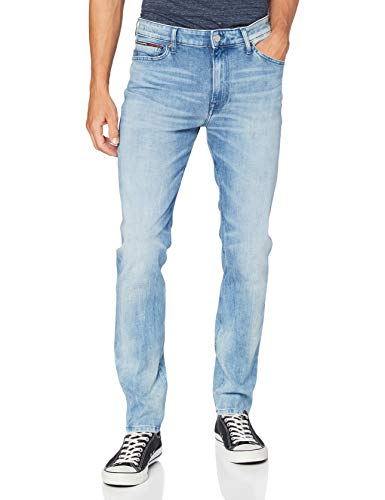 Tommy Hilfiger Uomo, Jeans straight, Simon Skinny Dycrl, Blu (Dynamic Cross Light Str Aj), W29 / L34