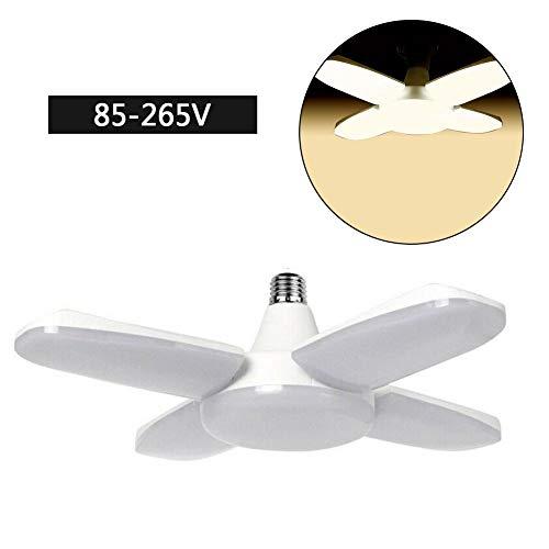 Draulic 80W 8000lm LED Deckenleuchte Verformbar E27 / E26 Lampe Arbeitsscheinwerfer - Hausgartenwerkzeug (1 Packung)