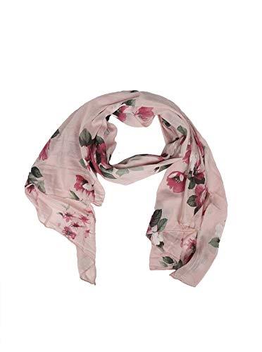 Zwillingsherz Zwillingsherz Seiden-Tuch Frühlings-Blume - Hochwertiger Schal für Damen Mädchen - Halstuch - Umschlagstuch - Loop - weicher Schlauchschal für Sommer Herbst und Winter von Cashmere Dreams rosa