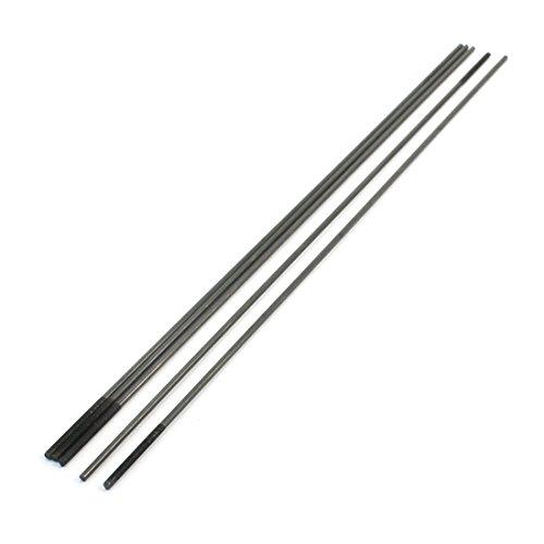5pcs 30 x 3mm One End Threaded 30cm Long Metal Push Rods