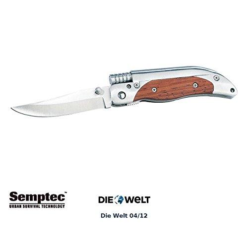 Semptec Urban Survival Technology Feuerstein: Taschenmesser mit 8-cm-Klinge und Magnesium-Feuerstab (Taschenmesser mit Feuerstein)