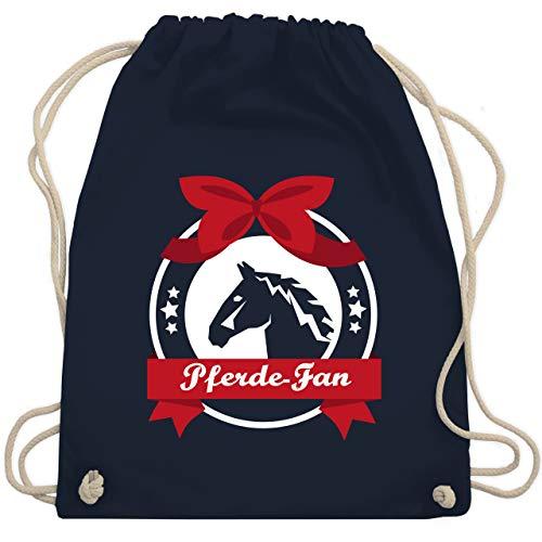 Shirtracer Reitsport - Pferde-Fan - Unisize - Navy Blau - pferde fan - WM110 - Turnbeutel und Stoffbeutel aus Baumwolle