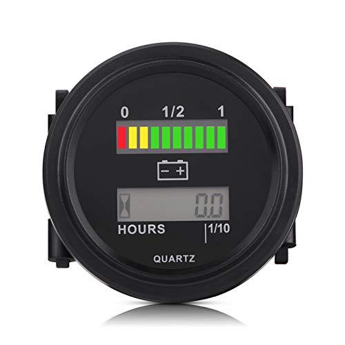Medidor de Batería, Indicador LED Digital de Batería Con Medidor de Horas para Carros Gol-F 12V 24V 36V 48V 72V