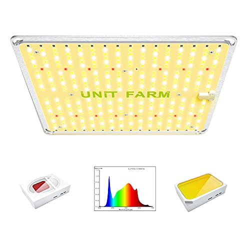 UNIT FARM UF2000 LED Grow Lights, 100W Full Spectrum Growing Lamps with 368 OSRAM Diodes for Indoor Plant Hydroponic Grow System for 3x3FT Microgreens, 2x2FT herb Seedling Veg Flowering