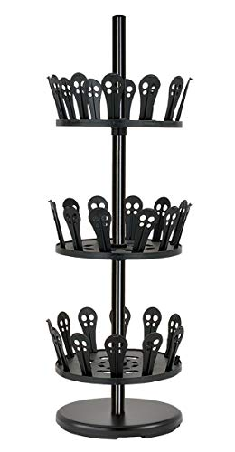 Slimline Shoes Rack - Revolving Shoe Organizer - Free standing shoe tree holds up to 18 Pairs of Shoes - More Shoes Storage for Closets/Wardrobes/Entryway/Patio - Portable - Easy to Move