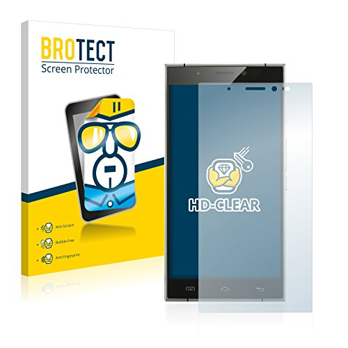 BROTECT Schutzfolie kompatibel mit Doogee F5 (2 Stück) klare Bildschirmschutz-Folie
