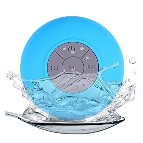 Langguth Bad Lautsprecher: Lautsprecher mit Bluetooth, Freisprechfunktion und Saugnapf, IPX4 (Lautsprecher Dusche, Bluetooth) Blau