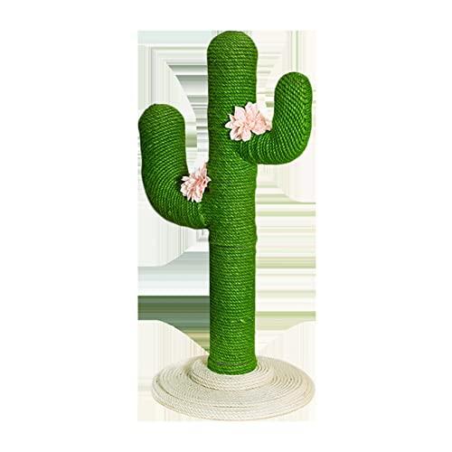 BIAN-63 Árboles para Gatos Cuerda De Yute Cactus Gatos Rascadores con Flor, Columpio Cat for Gatitos Y Gatos Adultos