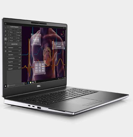CUK Precision 7750 by Dell 17 inch Mobile Workstation Laptop (Intel Xeon W, 128GB RAM, 4x2TB NVMe SSD, NVIDIA Quadro RTX 5000 16GB, 17.3' 4K UHD, Windows 10 Pro) Professional Notebook Computer