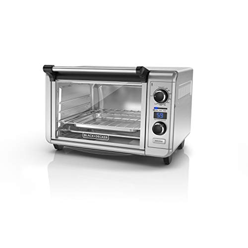 BLACK+DECKER TOD3300SS 6-Slice Digital Convection Countertop Oven - Stainless Steel