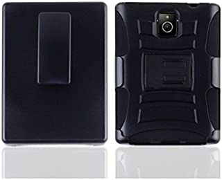 LF 3 in 1 Bundle - Hybrid Armor Stand Case with Stand, Lf Stylus Pen & Droid Wiper for (AT&T) BlackBerry Passport (Holster Black)