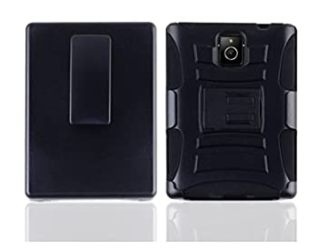 LF 3 in 1 Bundle - Hybrid Armor Stand Case with Stand Lf Stylus Pen & Droid Wiper for  AT&T  BlackBerry Passport  Holster Black