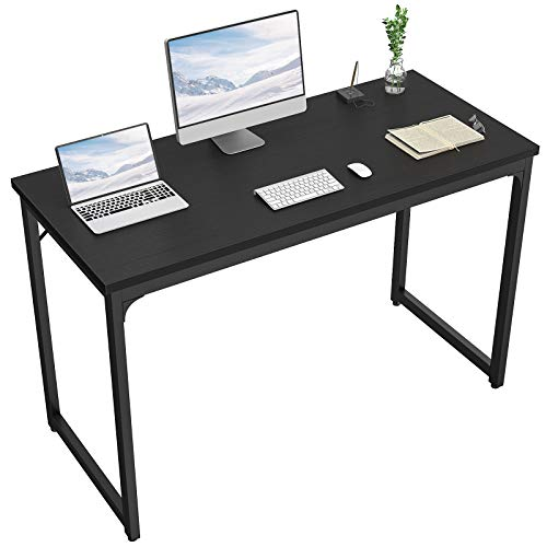 """Foxemart Computer Desk 47"""" Modern Sturdy Office Desk PC Laptop Notebook Study Writing Table for Home Office Workstation, Black"""