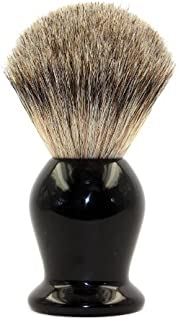 EcoToKo Basic Pure Badger Shaving Brush With Black Handle-Engineered To Deliver the Best Shave of Your Life
