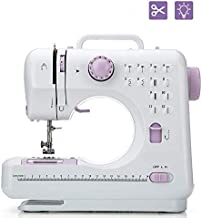 Sewing Machine with Foot Pedal Portable Multifunctional Overlocker with Led for Household, Travel, Kids, Beginners