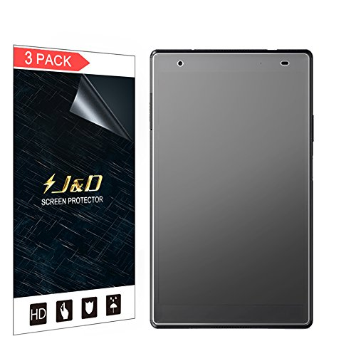 J&D Compatible para 3 Paquetes Protector de Pantalla para Lenovo Tab 4 8 Plus, [Anti reflejante] [NO Cobertura Completa] Prima Película Mate Protector de Pantalla - [NO para Lenovo Tab 4 8]