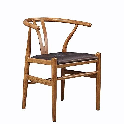 YINGGEXU Silla de Comedor Silla de Comedor 2 sillas Moderno Restaurante del Hotel Marco de Madera Maciza Comedor Silla sillas Salón Cocina (Color: Marrón, Tamaño: 50cm x 53cm x 73cm)