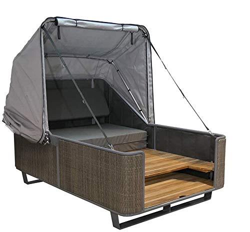 Outdoor Bett liv.be by Ploß – 2in1 Bett und Lounge Sonneninsel (Geflecht)