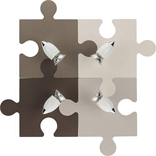 Nowodvorski Applique per bambini puzzle (4GU10), rif. 6382, marrone