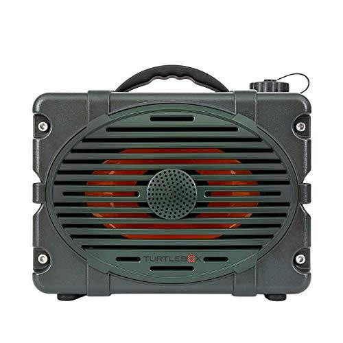Turtlebox: Loud! Outdoor Rugged Bluetooth Speaker ~ Up to 50+ Hour Charge | IP67 Waterproof & Dustproof. Plays up to 120db. (Original Green)