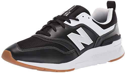 New Balance Herren 997H V1 Turnschuh, Schwarz, Weiß, silberfarben, 44 EU