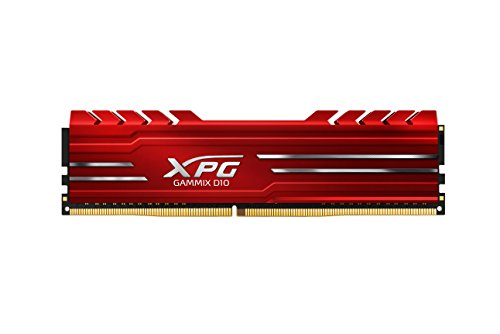 ADATA XPG GAMMIX D10 Gaming Memory DDR4 RAM 2400MHz for Desktop (4 GB, Black)