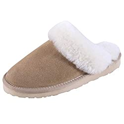 Sheepskin slipper for comfortable warm