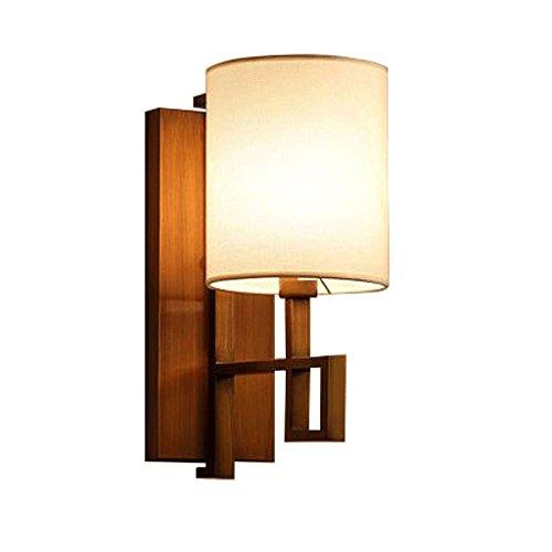 Good thing Applique Moderne Nouveau style chinois Caravane en fer Carré Lampe murale Corridor hôtelier Lobby Aisle Industrial Wind Lamps (Couleur : Bronze)