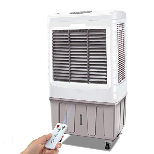 YLLN Großer Lüfter für Mobile Klimaanlagen, tragbarer Verdunstungskühler, handelsüblicher 3-in-1-Luftkühler-Luftbefeuchter mit Fernbedienung 24-Stunden-Timer 15000 Luftvolumen