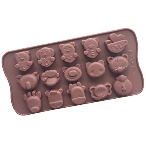 シリコン型 動物 アニマル キリン ゾウなど 15種 チョコレート 焼き菓子 DIYに