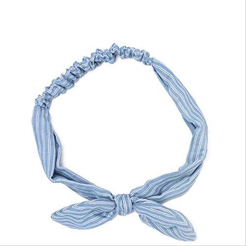 WLLBT Bohème Hairband Imprimé Hairband Femmes Rétro Cross Bow Turban Hairband Coiffe Une taille 2-3