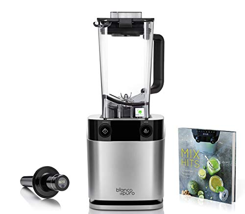 bianco di puro Hochleistungsmixer Volto N Smoothie Maker 8 Mixprogramme 1,5 Liter Füllvolumen BPA-frei