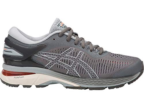 ASICS Women's Gel-Kayano 25 Running Shoes, 8M, Carbon/MID Grey